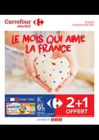 Promos et remises Carrefour Market BALBIGNY : Le mois qui aime la France