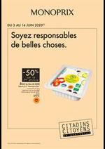 Prospectus Monoprix : Soyez responsables de belles choses