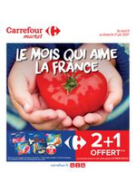 Promos et remises Carrefour Market : Le mois qui aime la France