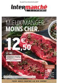 Prospectus Intermarché Super L'Union : MIEUX MANGER MOINS CHER.