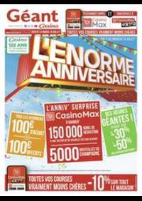 Promos et remises Géant Casino TOULOUSE : L'énorme anniversaire