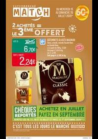 Prospectus Supermarchés Match Halluin : 2 achetés = le 3ème offert