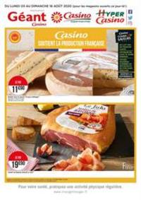 Prospectus Supermarchés Casino SURESNES : Casino soutient la production française
