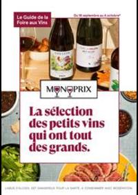 Prospectus Monoprix SOISY sous MONTMORENCY : La sélection des petits vins qui ont tout des grands.