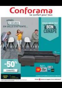 Promos et remises Conforama BOURGES - ST GERMAIN DU PUY : Vouz méritez un bon canapé