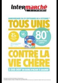 Promos et remises Intermarché Super Trevenans : TOUS UNIS CONTRE LA VIE CHÈRE