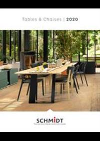 Prospectus Cuisines Schmidt PARIS 358 RUE DE VAUGIRARD : Les tables et chaises 2020