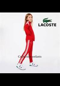 Prospectus Lacoste Paris 36 Avenue des ternes : Collection enfants