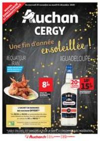 Promos et remises Auchan CERGY : CERGY : UNE FIN D'ANNEE ENSOLEILLEE