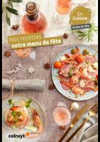 Prospectus Colruyt WEPION : Nos recettes votre menu de fête