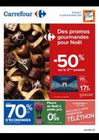 Prospectus Carrefour GENNEVILLIERS : Des promos gourmandes pour Noël