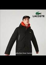 Prospectus Lacoste : Collection hiver homme