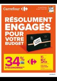Prospectus Carrefour MARGENCEL : RESOLUMENT ENGAGES POUR VOTRE BUDGET