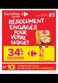 Prospectus Carrefour Market THONON LES BAINS  : Résolument engagés pour votre budget
