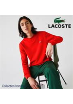 Prospectus Lacoste : Collection homme