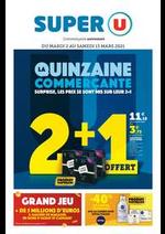 Prospectus Super U : LA QUINZAINE COMMERÇANTE