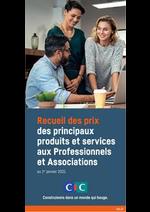 Prospectus CIC : Tarifs Professionnels et Associations 2021