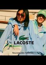Catalogues et collections Lacoste : Nouveautés femmes