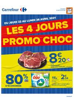 Promos et remises Carrefour : Les 4 jours PROMO CHOC