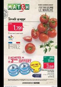 Prospectus Supermarchés Match Tourcoing Mercure : C'est tous les jours le marché