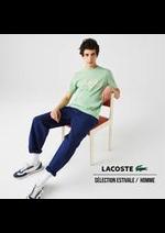Prospectus Lacoste : Sélection Estivale / Homme