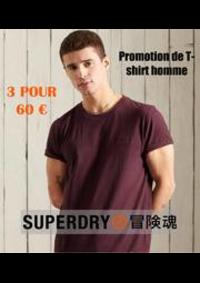 Prospectus Superdry Paris/Citadium : Promotion de T-shirt homme