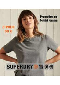 Prospectus Superdry Paris/Citadium : Promotion de T-shirt femme