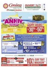 Prospectus Supermarchés Casino MORTEAU : Un trésor d'anniv'