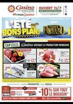Prospectus Supermarchés Casino : L'été des bons plans