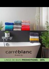 Prospectus Carré blanc Paris ROSNY SOUS BOIS : LINGE DE BAIN PROMOTIONS – 20%