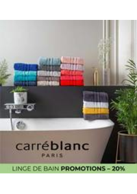 Prospectus Carré blanc Paris PARIS XVI : LINGE DE BAIN PROMOTIONS – 20%
