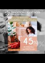 Prospectus Tradition des Vosges : -45% DE RÉDUCTION SUR TOUT LE SITE