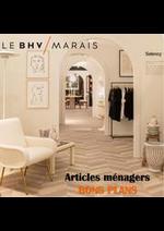 Prospectus BHV : Articles ménagers BONS PLANS