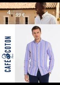 Prospectus Café Coton PARIS : Café Coton 4 Chemises 99€