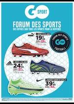 Prospectus Go Sport : Forum Des Sports