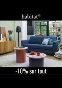 Prospectus Habitat PARIS 1ER 8 rue du Pont Neuf : Habitat Canapés et fauteuils -10% sur tout