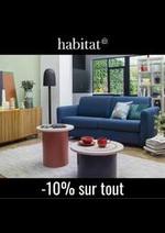 Prospectus Habitat : Habitat Canapés et fauteuils -10% sur tout