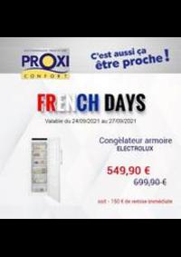 Prospectus Proxi Confort PARIS : French Days